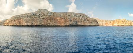 Islands in Mediterranean panorama Stock Photo