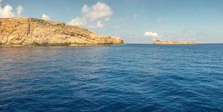 Islands near the Crete panorama Standard-Bild
