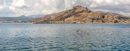 Greek islands near the Crete  panorama Stock Photo
