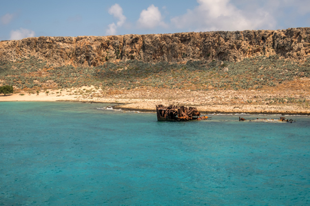 Ancient Gramvousa Fort is near the Crete