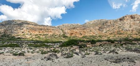 Mountains near lagoon Balos panorama