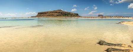 The beautiful lagoon of Balos Stock Photo