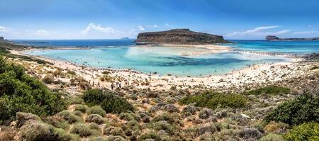 The beautiful lagoon of Balos in summertime Stock Photo