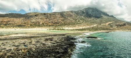 Lagoon of Balos in summertime Stock Photo