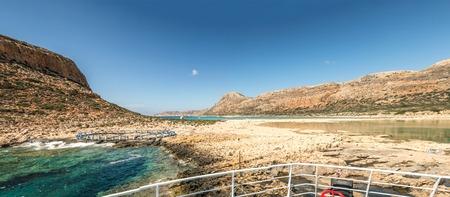 The beautiful lagoon of Balos panorama