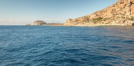 Panorama of  island in Mediterranean in summer Stock Photo