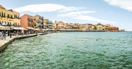 Panoramic view of the city of Chania Editorial