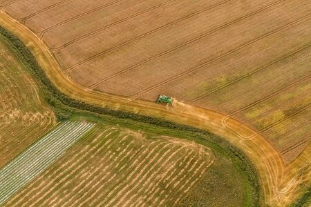 Lithuanian fields photographed from an air balloon Stock Photo