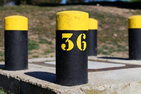 Yellow and black posts 36 Фото со стока
