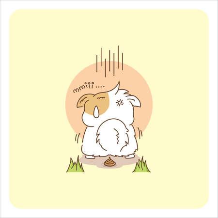 Miw the Adorable Cat - Vector Art Иллюстрация