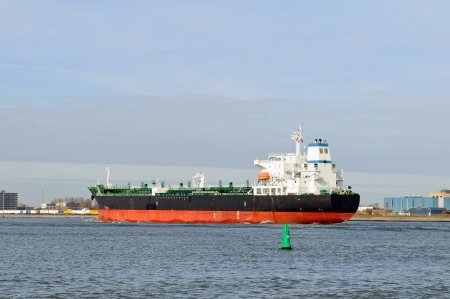 oil tanker in harbor of rotterdam netherlands photo