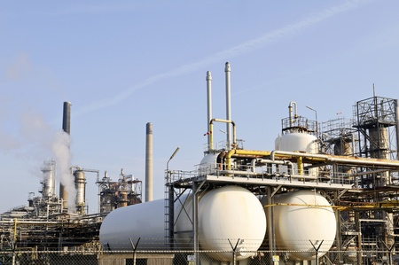 oil and chemical refinery Stock Photo