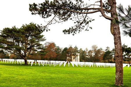 american memorial and cemetery in Normandy France photo