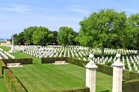 Canadian world war 2 cementery in Normandy France photo