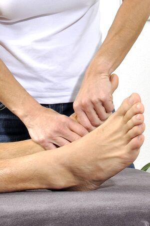 physiotherapy treatment Stock Photo