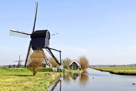 windmills from holland Stock Photo