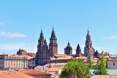 the cathedral of santiago de compostela  galicia spain photo