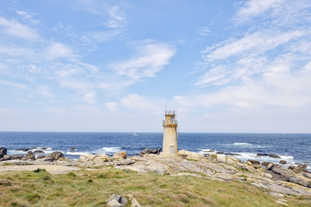 lighthouse at Muxia Galicia Spain  Pilgrim destination
