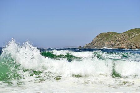 galizia: Bella spiaggia in Galizia Spagna Archivio Fotografico