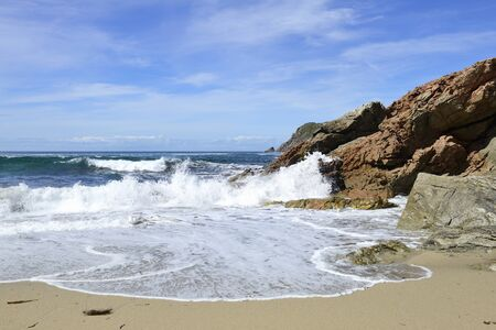 Beautiful beach in Galicia Spain photo