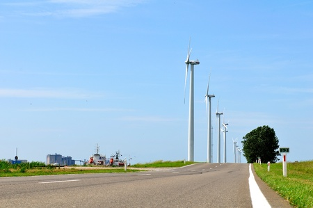 Eco power, wind turbines photo