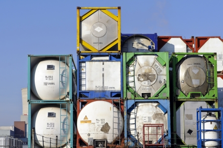 chemical transport container  Standard-Bild