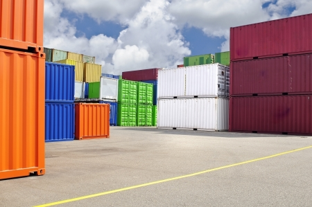 colorful containers for shipping transport  photo