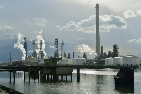 oil refinery in rotterdam netherlands photo