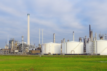 oil refinery in the harbor of rotterdam Stock Photo