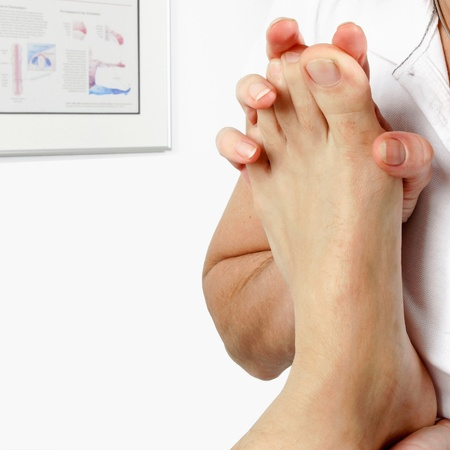 physiotherapy of the feet  photo