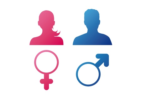genders: User behavior  gender icons