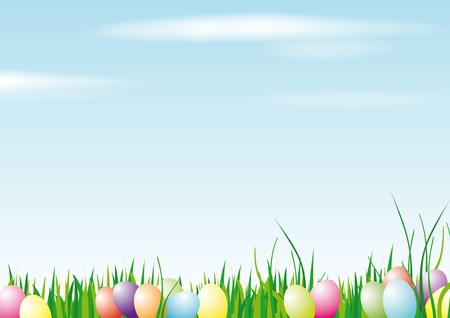 colored egg: Happy Easter Background