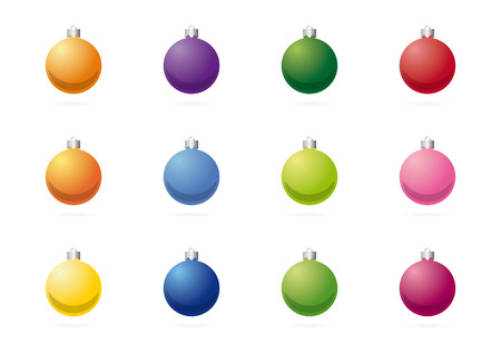 lila: christmas tree balls