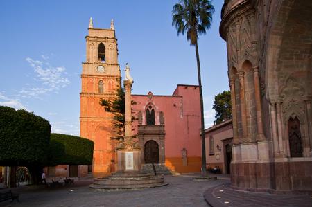 parish: Parish of San Miguel de Allende Stock Photo
