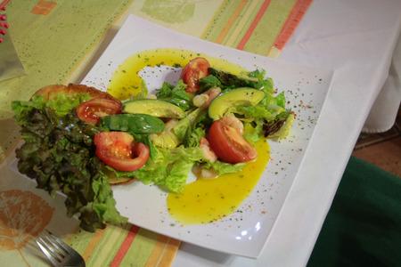 doomed: Italian salad with pesto Stock Photo