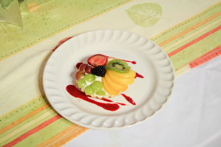 Tartlet with fruits