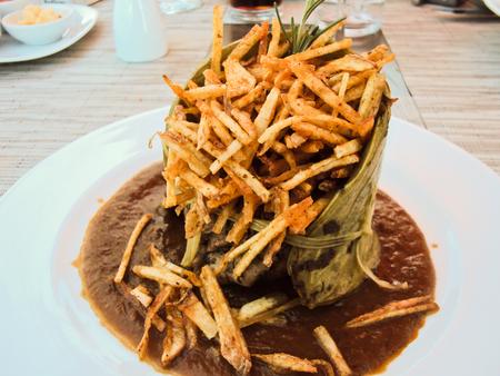 Mexican style fries potatos