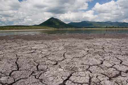 Desertification in a mexican lake