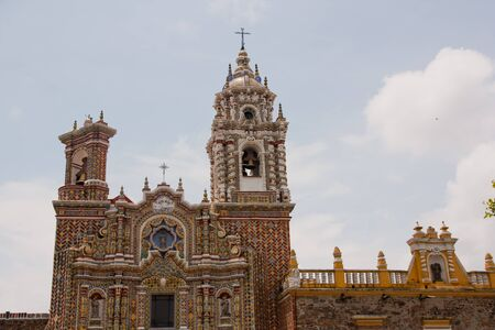 San Francisco church in Cholula Puebla Stock Photo