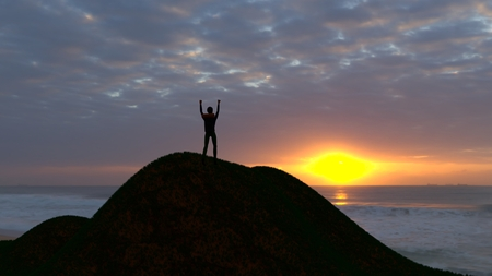Getting to the summit, achieving your goals. Thrive on the adventure. Surpassing obstacles.