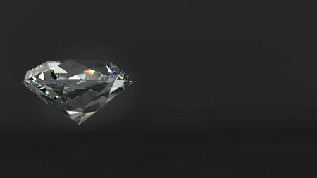 Cut diamond over black background Фото со стока