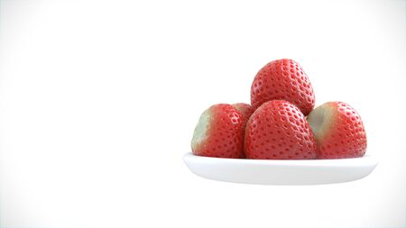 Bunch of Strawberries isolated over solid background