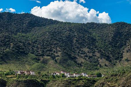 Tibetan architecture in the mountains