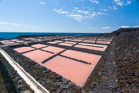 extraction: Salt extraction plant at salinas  La Palma - Canary islands