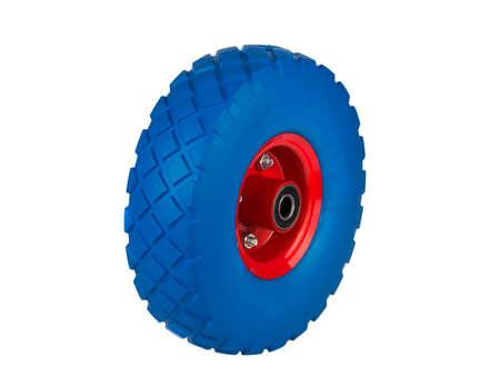 polyurethane foam wheel for trolleys on a metal disk isolated Reklamní fotografie