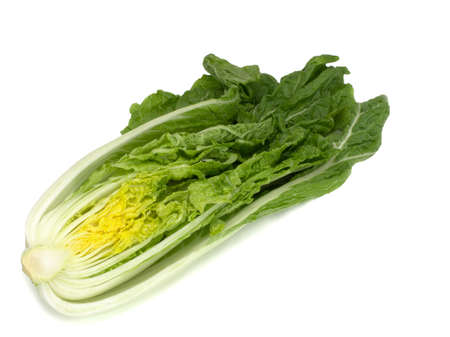 One half of Chinese cabbage isolated on a white background Stock fotó