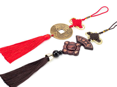 Amulets that brings good luck and happiness, made by Chinese people. white background