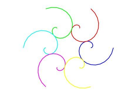 Six spirals background