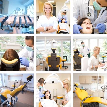 치과 치료에서 혼합 사진