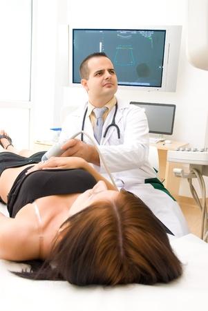 sonograma: Exploración ultrasónica Medical Foto de archivo